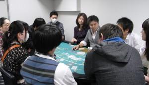 ポーカー体験の写真です