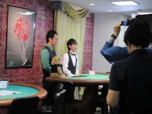 平川大輔さん日本カジノスクール撮影風景